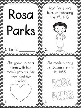 rosa parks activity pack black history month printable