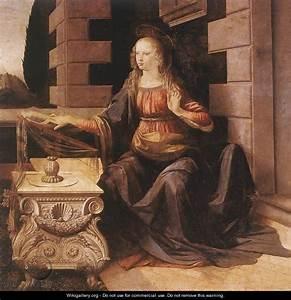 Annunciation (detail 2) 1472-75 - Leonardo Da Vinci ...