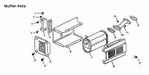 Muffler Assy Diagram  U0026 Parts List For Model Gg7500 Gentron