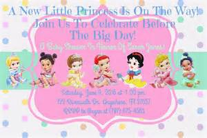 Princess Theme Baby Shower Invitations by Disney Baby Shower Ideas Baby Ideas