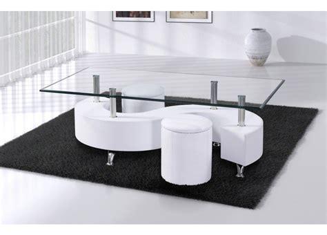 bureau blanc design pas cher table basse s lidos avec 2 poufs decor wenge