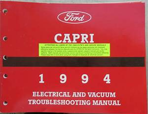 1994 Mercury Capri Service Manual Wiring Diagram