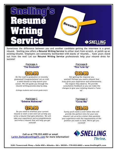 resume writing services flyer