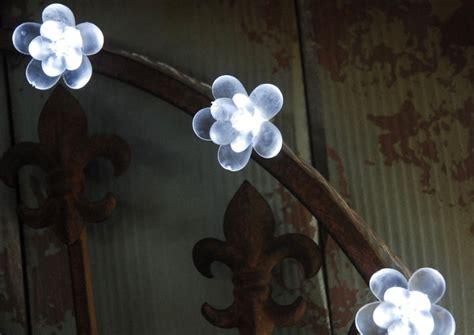 led cherry blossom string lights 20 flowers cool white