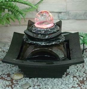 Tischbrunnen Mit Beleuchtung : tischbrunnen mit kristallkugel und bunter led beleuchtung 64 99 ~ Orissabook.com Haus und Dekorationen