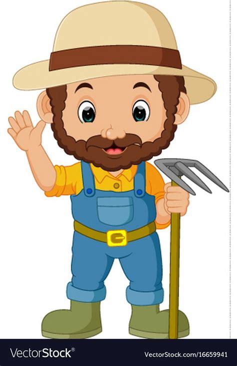 illustration  funny farmer cartoon