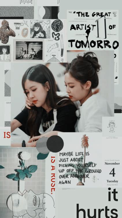 jenlisa collage lockscreens tumblr