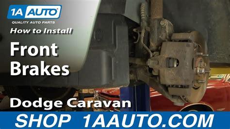 install replace front disc brakes dodge caravan