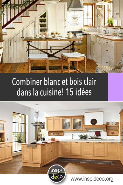 Cuisine Blanche Et Bois Cuisine Blanche Et Bois Clair 15 Id 233 Es Lumineuses Pour