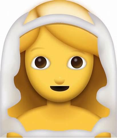 Emoji Bride Emojis Iphone Veil Smiley Icon