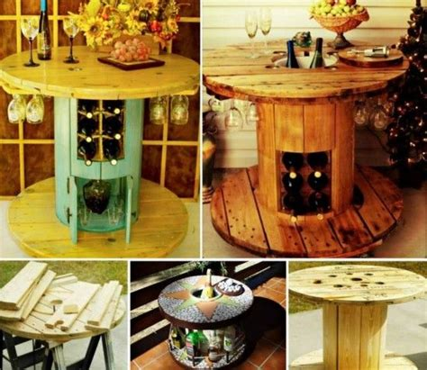 cable spool wine table pictures   images