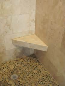 Pictures Of Tiled Showers by Bishop Bathroom Remodel Floating Corner Bench And Pebble