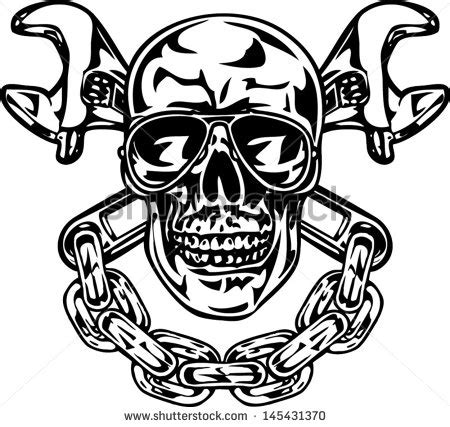 skull  wrenches clipart clipground
