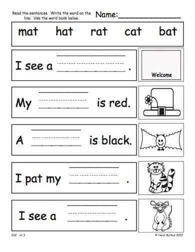 cvc worksheets pdf search phonics