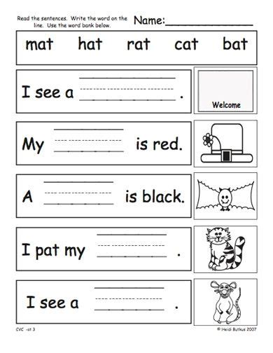 cvc worksheets  google search  images cvc