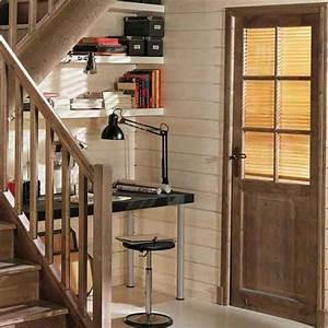 Porte en bois massif rustique avec vitre de chez lapeyre for Porte en bois avec vitre