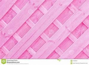 Pink Wooden Lattice Or Trellis Background Stock Photo ...