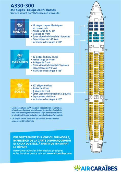 air caraibes reservation siege plan cabine de notre airbus a330 300 air caraïbes