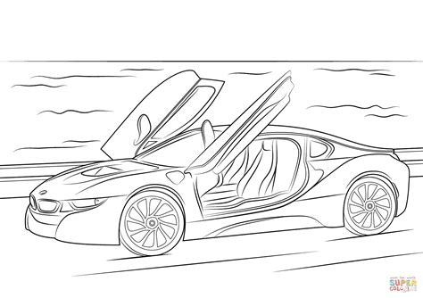 Kleurplaat Bmw E60 by 2015 Bmw I8 Coloring Page Free Printable Coloring Pages