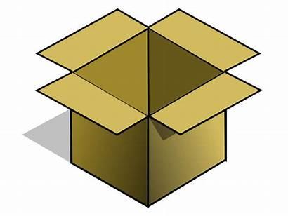 Box Clipart Boxes Cardboard Clip Empty Open