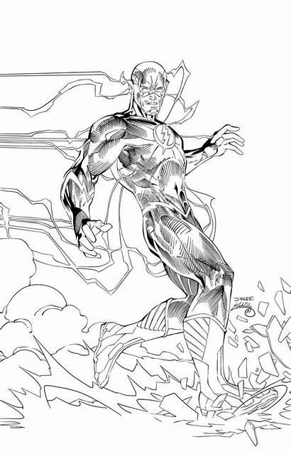 Flash Ink Jim Lee Pages Drawing Superhero