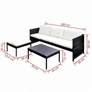 Polyrattan Lounge Set : der poly rattan gartenm bel lounge set 3 sitzer schwarz online shop ~ Whattoseeinmadrid.com Haus und Dekorationen