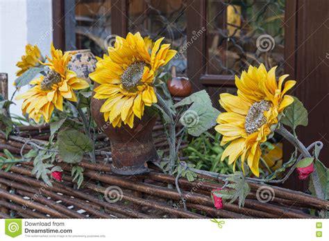Dekorieren Mit Sonnenblumen by Dekoration Sonnenblumen Und T 246 Pfen Im Artdorf
