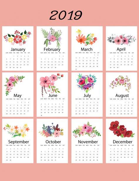 calendar floral template stock photo public domain pictures