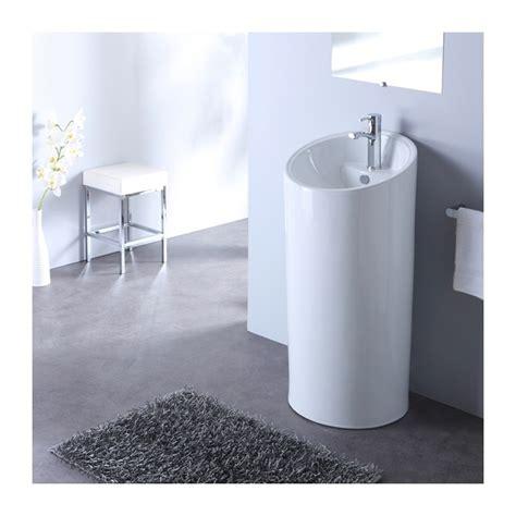 lavabo sur pied lavabo sur pied cylindre blanc