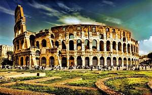 Colosseum historical place and world wonders wallpapers ...