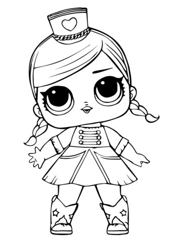 LOL Doll Majorette coloring page Free Printable Coloring