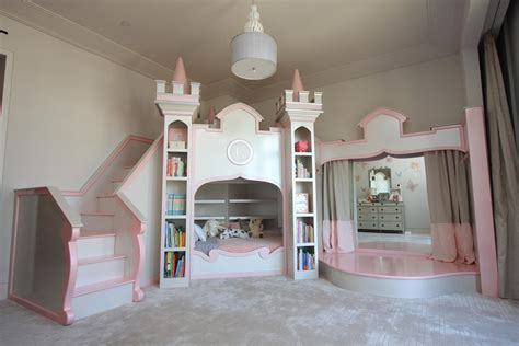 Elegant Princess Castle Theme For Kids Bedroom Including