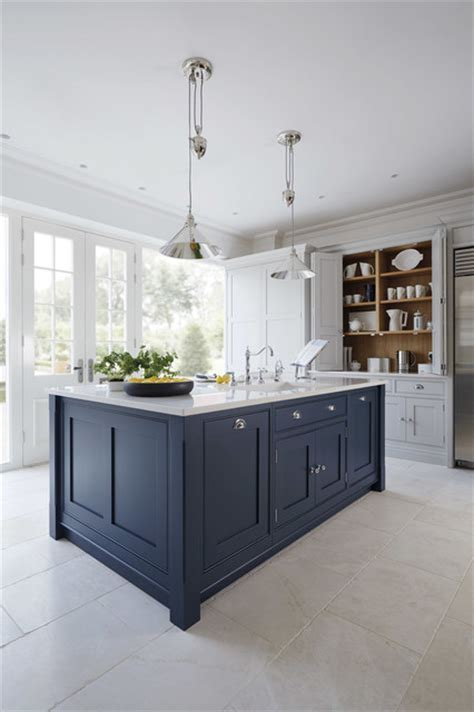 Luxury Blue Painted Kitchen   Traditional   Kitchen