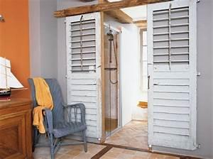 vos vieux volets refont votre deco agence briques en stock With porte d entrée pvc avec salle bain retro