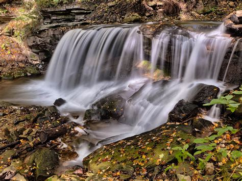 natural beauties stream river watercascade rocks forest