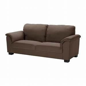 Tidafors sofa dansbo medium brown ikea for Sectional sofas at ikea