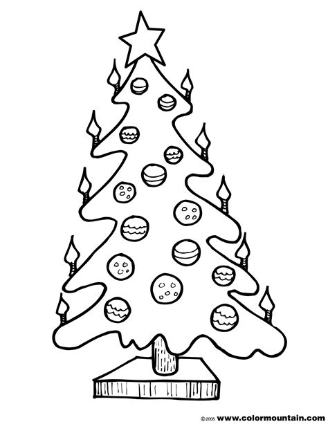 tree light bulb coloring pages