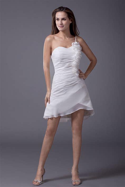 cheap summer short wedding dresses casual  white