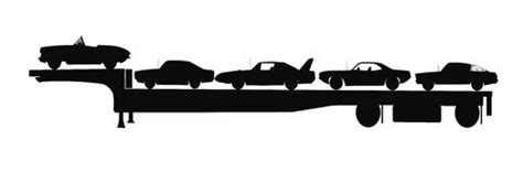 motorhome towing cargo trailer stock illustration image