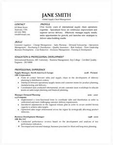 Supply Chain Director Resume Exle by Supply Chain Manager Resume