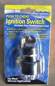 Ignition Key Switch Push To Choke Mercury Outboard Off