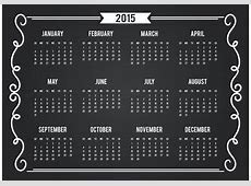 Chalkboard Style 2015 Calendar Card Download Free Vector