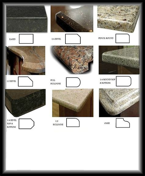 best 20 granite countertop edges ideas on