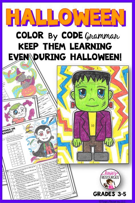 halloween color  code grammar  images halloween