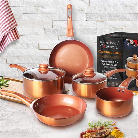 copper pro  piece pan set daniel james products