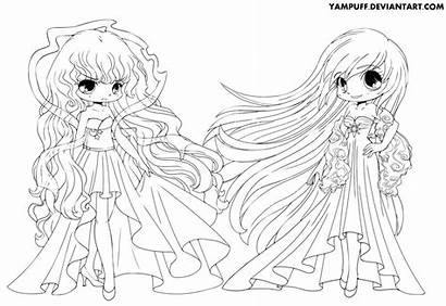 Coloring Night Pages Yampuff Lineart Colouring Deviantart