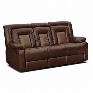 Furniture faux dark brown leather reclining sectional for Sectional sofa with a recliner