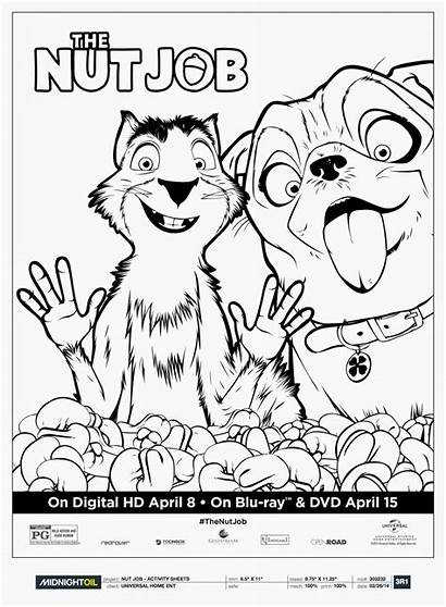 Nut Job Coloring Pages Surly Precious Printable