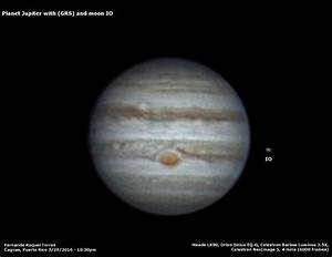 Planet Jupiter with GRS and moon IO - Sky & Telescope