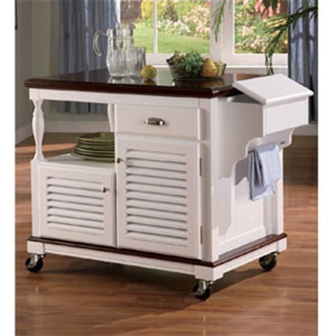 work island  wheels solid wood kitchen cart  white